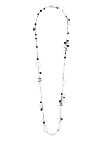 Chanel Pre-Owned CC beaded necklace