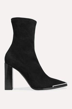 Mascha Suede Sock Boots - Black