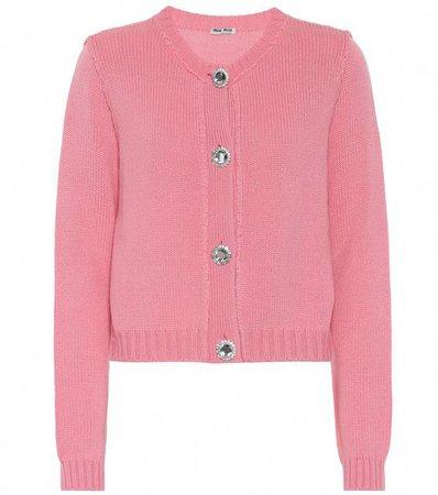 pink sweater miu miu