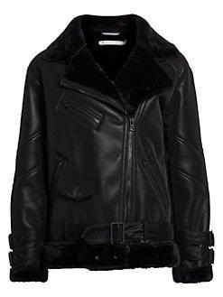 Blanc Noir Leather Coat