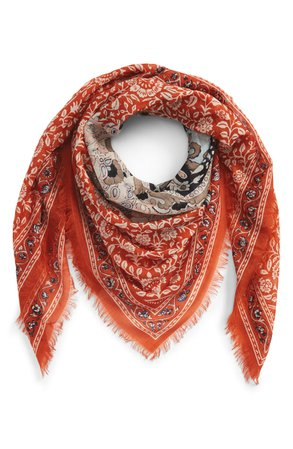 Madewell Greta Paisley Square Scarf | Nordstrom
