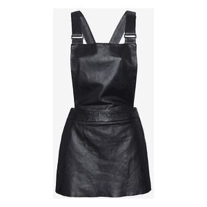 Mini Leather Overall Dress