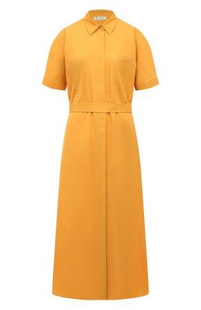 Женское желтое хлопковое платье LORO PIANA — купить за 177500 руб. в интернет-магазине ЦУМ, арт. FAL6277