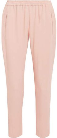 Tamara Stretch-crepe Tapered Pants - Blush