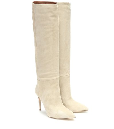 Paris Texas - Suede knee-high boots | Mytheresa