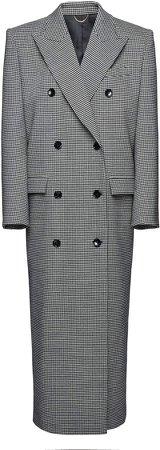 Magda Butrym Houndstooth Wool-Blend Coat