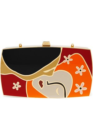 13BC | The Kiss gold-tone and enamel clutch | NET-A-PORTER.COM