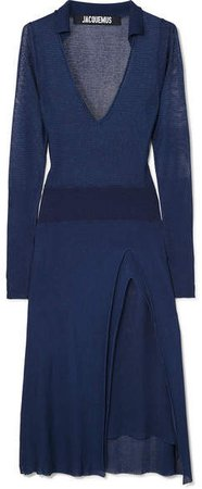 Notte Knitted Dress - Navy