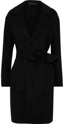 Sven Reversible Checked Wool-blend Felt Coat
