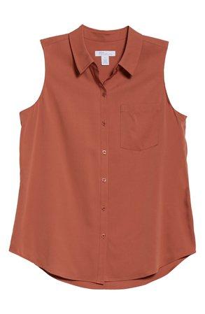 Nordstrom Signature Sleeveless Stretch Silk Shirt | Nordstrom