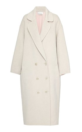 Oversized Double-Breasted Wool Coat by Mansur Gavriel | Moda Operandi
