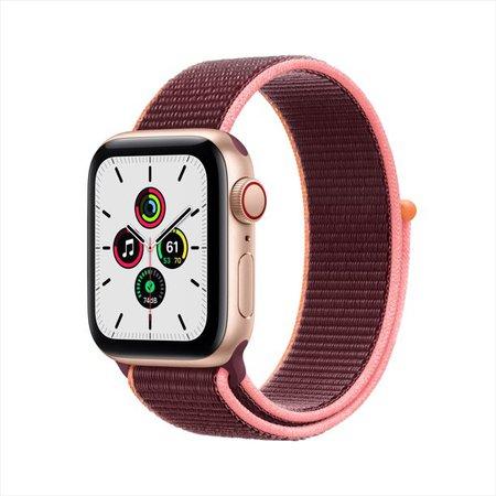 Apple Watch SE GPS + Cellular, 40mm Gold Aluminum Case with Plum Sport Loop - Walmart.com - Walmart.com