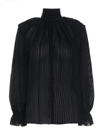 Brightside Frilled Blouse Black Online | Zimmermann