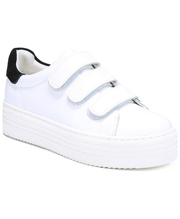Sam Edelman Women's Spence Velcro Strap Sneakers & Reviews - Athletic Shoes & Sneakers - Shoes - Macy's White/Black