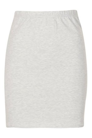 Core Basic Jersey Mini Skirt   boohoo
