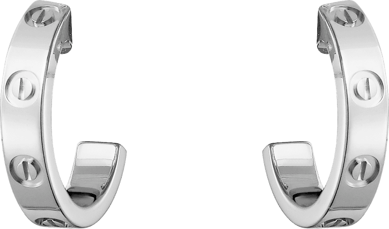 CRB8028900 - LOVE earrings - White gold - Cartier