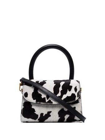 BY FAR Mini Cow Print cross-body Bag - Farfetch