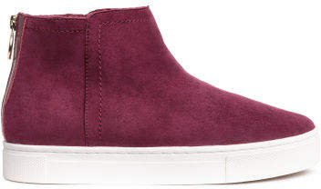 Lined suede boots - Red