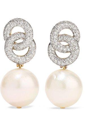 Bina Goenka   Boucles d'oreilles en or 18 carats, diamants et perles   NET-A-PORTER.COM