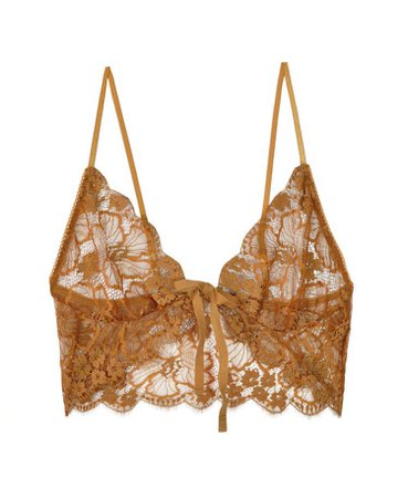 For Love & Lemons Gold Honeysuckle Bralette