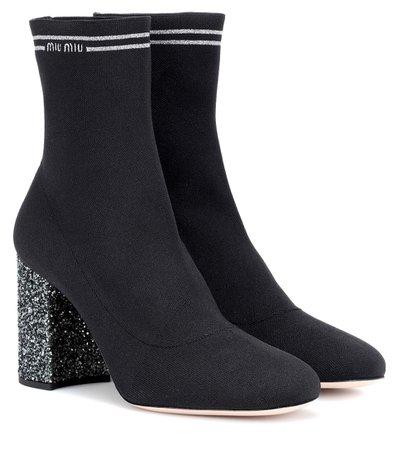 Stretch-Knit Ankle Boots - Miu Miu | mytheresa
