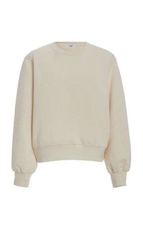 Vanessa Padded-Shoulder Cotton Sweatshirt By The Frankie Shop | Moda Operandi