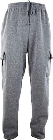 Mens Cargo Sweatpants with Drawstrings