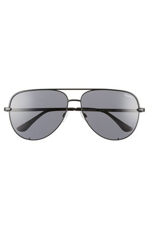 Quay Australia High Key 62mm Oversize Aviator Sunglasses | Nordstrom