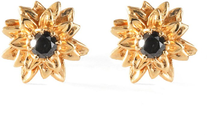 Bernard James Sunflower Diamond Stud Earrings
