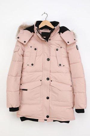 Noize Astrid Tuscany - Beige Parka Jacket - Faux Fur Jacket - Lulus