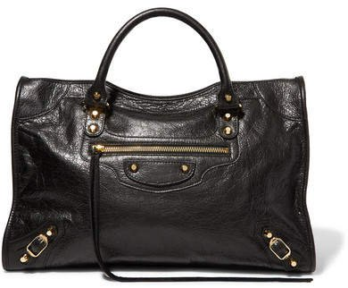 Classic City Textured-leather Tote - Black