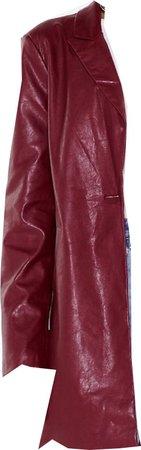 burgundy faux leather blazer, nasty gal