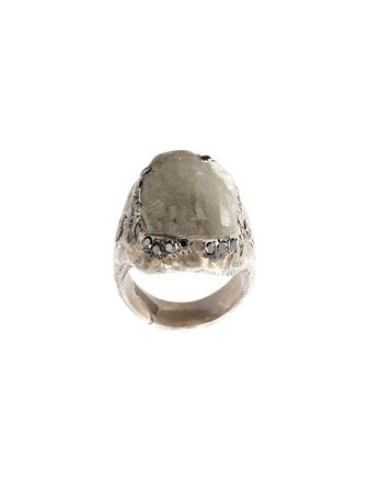 Tobias Wistisen diamond flat surface ring £1,696 - Shop Online - Fast Delivery, Free Returns