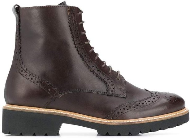 Snail lace-up boots