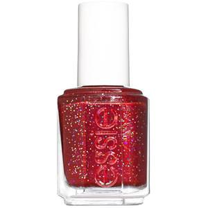 knotty or nice - blue-toned red glitter nail polish - essie