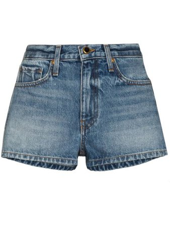 Khaite Charlotte Denim Shorts - Farfetch