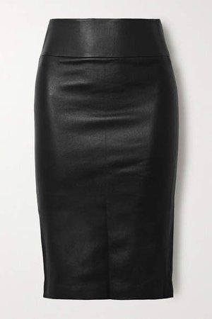 Stretch-leather Skirt - Black