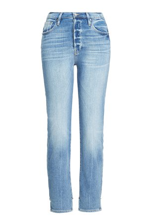 Slim Jeans with Stagger Detail Gr. 31