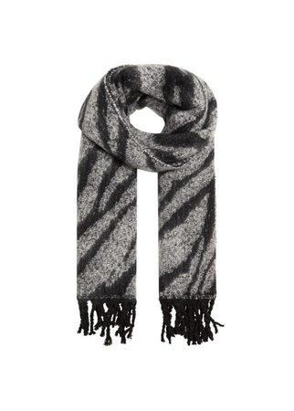 MANGO Zebra printed scarf
