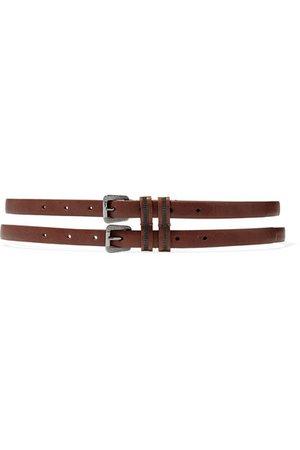 Brunello Cucinelli | Bead-embellished leather belt | NET-A-PORTER.COM