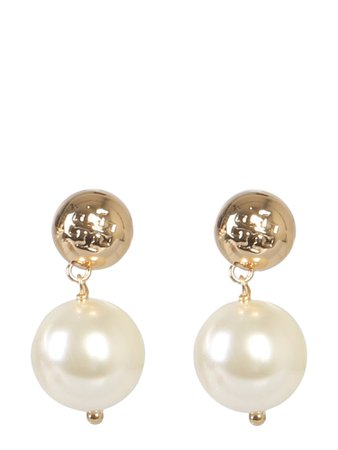 Tory Burch Earrings With Pearl Pendant