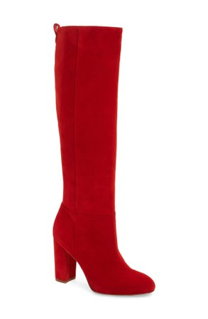 knee high red boots - Google Search