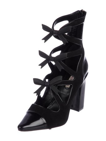 Fabrizio Viti Suede Bow-Accented Boots - Shoes - FABIT20098 | The RealReal