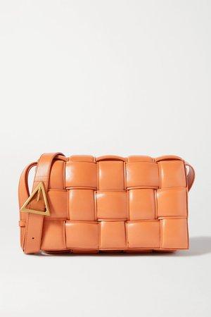 Light brown Cassette padded intrecciato leather shoulder bag   Bottega Veneta   NET-A-PORTER