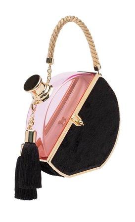pink black clutch