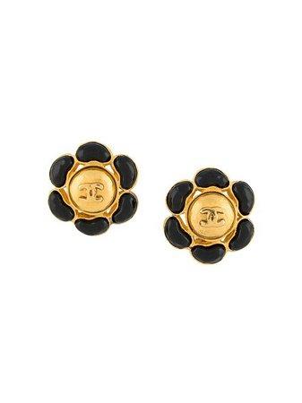 Chanel Pre-Owned 1990's Flower clip-on Earrings - Farfetch