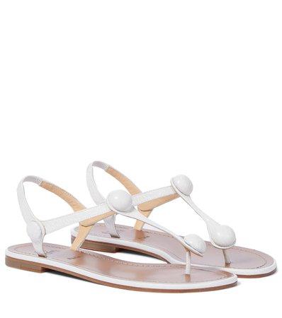 Christian Louboutin - Planet Ball leather sandals | Mytheresa
