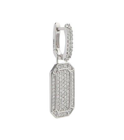 EÉRA - Tokyo 18kt white gold single earring with diamonds | Mytheresa