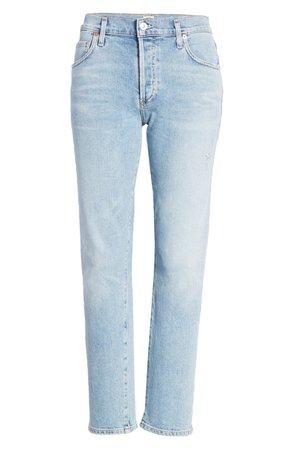 Citizens of Humanity Emerson High Waist Slim Boyfriend Jeans (Ever) blue