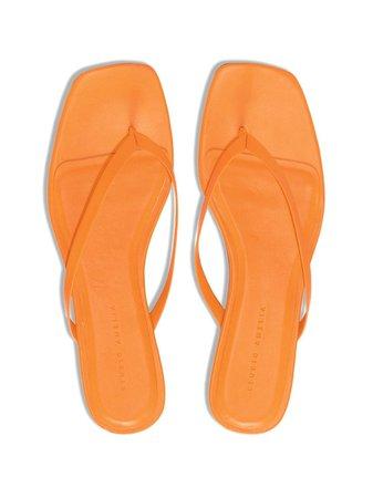 Studio Amelia square-toe flip flop sandals - FARFETCH